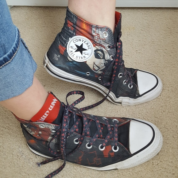 4be12c1b8fcb Converse Shoes - Converse HARLEY QUINN Hi Top Chuck Taylor Sneakers